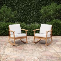 Royal Garden Guilford 2-Pack Cushioned Rocking Chairs