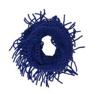 George Women's Wavy Knit Infinity Loop Scarf Deep Blue