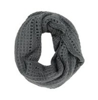 George Women's Textured Knit Infinity Loop Scarf Grey