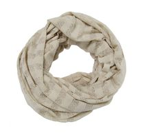 George Women's Jersey Lace Knit Infinity Loop Scarf White
