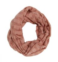 George Women's Jersey Lace Knit Infinity Loop Scarf Dark Pink