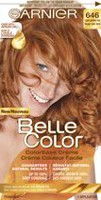 Coloration permanente Crème couleur facile pour cheveux Belle Color de Garnier 646 Light Golden Red