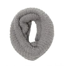 George Women's Chenille Double Layer Snood Light Grey