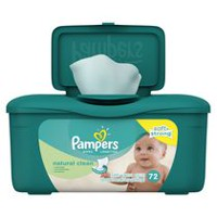Pampers Baby Wipes Natural Clean Tub