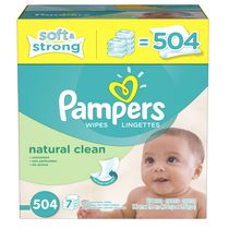 Pampers Baby Wipes Natural Clean 7X Pack