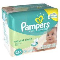 Pampers Baby Wipes Natural Clean 3X Pack