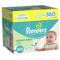 Pampers Baby Wipes Natural Clean 5X Pack