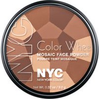NYC New York Color Color Wheel Mosaic Face Powder, 9 g All Over Bronze Glow Beige
