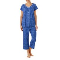 George Women's V-Neck Short Sleeve Pyjama Set Blue 2X