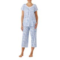George Women's V-Neck Short Sleeve Pyjama Set White 3X