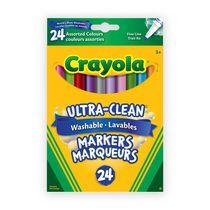 Crayola Marqueurs lavables couleurs assorties, 24 ct