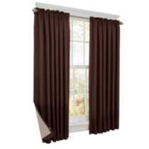 Thermal Shield Energy Saving Curtain Chocolate 42in x 63in
