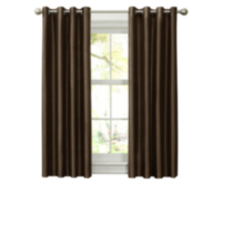Faux Silk Thermal Lined Grommet Panel ESPRESSO 54in x 63in