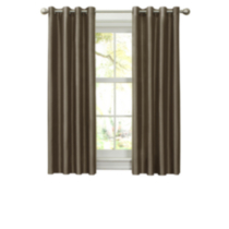 Faux Silk Thermal Lined Grommet Panel Fossil 54in x 63in