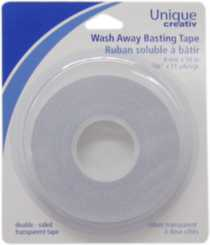 Multi purpose temporary 2-way tape for home sewing, craft and embroidery.