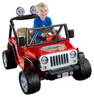 Fisher Price Power Wheels Jeep Wrangler - Lava Red & Black