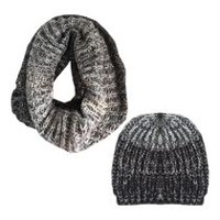 George Women's Snood/Hat Set Black Combo