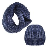 George Women's Snood/Hat Set Blue Combo
