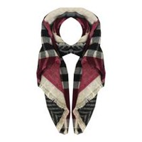 George Ladies' Double Blanket Scarf Black/Red