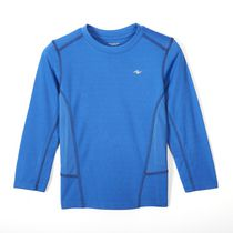 Athletic Works Boys' Long Sleeved Crewneck Top Blue L/G