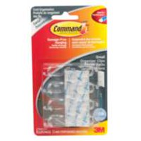 Command™ Clear Small Cord Clips with Clear Strips, 17302CLR-C