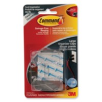 Command™ Clear Large Cord Clips with Clear Strips, 17303CLR-C