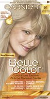 Coloration permanente Crème couleur facile pour cheveux Belle Color de Garnier 91 Light Ash Blonde