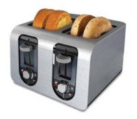 Black & Decker Stainless Steel 4-Slice Toaster