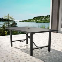 COSCO Outdoor Furniture, Patio Dining Table, Steel, Charcoal