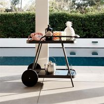 Novogratz Poolside Collection, Barbie Outdoor Bar Cart, Aluminum, Charcoal