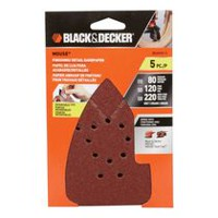 Papier abrasif BLACK+DECKER de la souris assortis