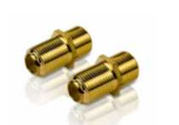 Philips F connectors Feed-thru Dual pack