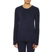 ClimateRight by Cuddl Duds Women's CD8412331 Stretch Fleece Warm Underwear Long Sleeve Top Navy L