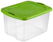 Sterilite 66 Liter Spicy Lime Easy Carry Storage Box