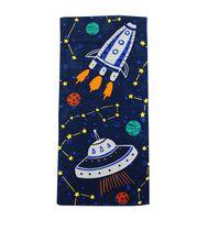 MAINSTAYS PRINTED BEACH TOWEL --SPACESHIP STARS