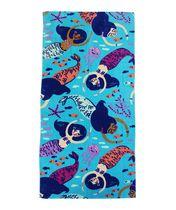 MAINSTAYS PRINTED BEACH TOWEL -- MERMAID SWIM