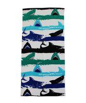 MAINSTAYS PRINTED BEACH TOWEL -- SHARK STRIPE