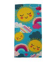 MAINSTAYS PRINTED BEACH TOWEL -- SUNSHINE RAINBOW