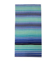 MAINSTAYS PRINTED BEACH TOWEL -- OMBRE STRIPE COOL
