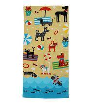 MAINSTAYS PRINTED BEACH TOWEL -- BEACH DOGS