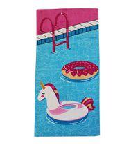 MAINSTAYS PRINTED BEACH TOWEL -- UNICORN FLOATIE