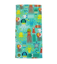MAINSTAYS PRINTED BEACH TOWEL -- OCTO SQUID