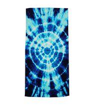 MAINSTAYS PRINTED BEACH TOWEL-- BLUE TIE DYE