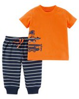 Child of Mine made by Carter's Newborn Boys' Truck 2-Piece Clothing set 6-9 months