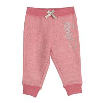 George Baby Girls' Fleece Jogger Pink 12-18 months