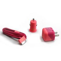 BlueDiamond ToGo Charging Kit for iPhone 4/4S - Pink and Coral