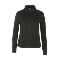 Athletic Works Women's Tricot Jacket Black Soot XS