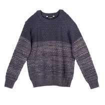 Pull George pour garcons en tricot popcorn Gray 6X
