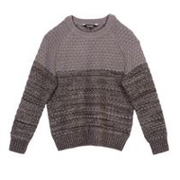 George Boys' Popcorn Knit Sweater Gray XL/TG