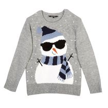 George Boys' Novelty Christmas Sweater S/P